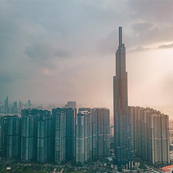 発展と大気汚染が進むベトナム ホーチミン市